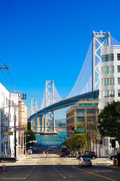 * Bay Bridge seen from San Francisco streets