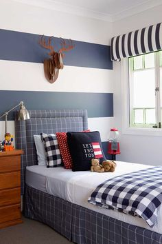 Charming Navy Blue Window Valance For Boys Tab Top Red White Stripe | Wii Room |  Pinterest | Valance, Window And Room