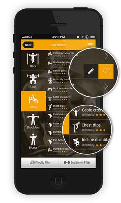 No excuses App by Dawid Tomczyk, via Behance