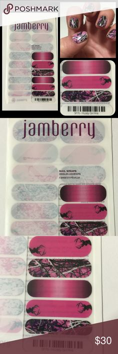 Jamberry Muddy Girl Pink Camo NWT  One of my favorite wraps!! This is the mixture pack. I did mine in the cover with just the Muddy Girl Camo. Show your southern style with a girlie flair! Jamberry Accessories