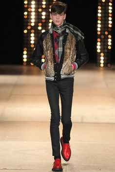 My version of the Ferris Bueller vest. Saint Laurent | Fall 2014 Menswear Collection | Style.com