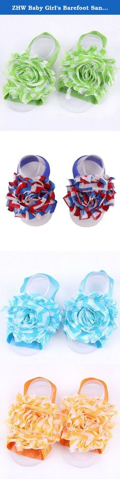 ZHW Baby Girl's Barefoot Sandals Flower ( Set of 10 ). The headbands can not only make full complete baby appear outfit, more can show the outline of baby face good, let the baby looks more nifty and lovely.
