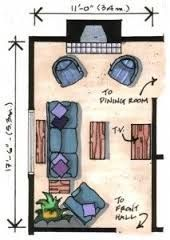 furniture layout for long skinny room - Google Search