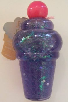 Claires Purple Cupcake Ice Cream Cone Shower Gel . $4.50. Claires Purple Cupcake Ice Cream Cone Shower Gel is 5 inches high.