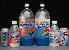Crystal Clear Pepsi - sad they don't make it...I like it.