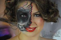 machiaj pentru halloween, makeup de halloween realizat de elena panait.