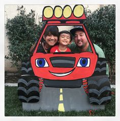 15 Trendy old cars and trucks ideas Festa Monster Truck, Monster Truck Birthday, Monster Trucks, Blaze Birthday Cake, Leo Birthday, Blaze And The Monster Machines Party, Birthday Frames, Cars Birthday Parties, Party Warehouse