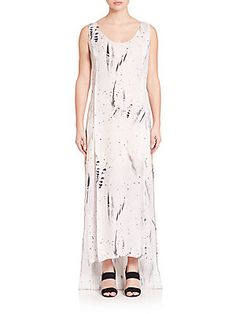 Public School Sachey Feather-print Silk Dress In Ivory Feather Print, School Fashion, Saks Fifth Avenue, Public School, Silk Dress, Ivory, Shopping, Clothes, Collection