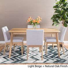Kwame Mid-Century 5-piece Rectangle Dining Set by Christopher Knight Home (