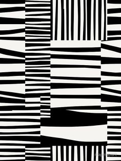 TWIGGY STRIPES, Black and Light Putty by Paul Allitt for mapmap art | Redbubble