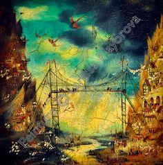 """larissaart.blogspot.com """"L'orage""""  huile sur toile 80cm x 80cm"""
