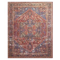 Magnolia Home Lucca Rug - Heirloom red_blue