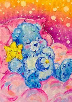 Bear Paintings, Hippie Painting, Indie Art, Mini Canvas Art, Aesthetic Painting, Guache, Art Drawings Sketches, Cartoon Art, Collage Art