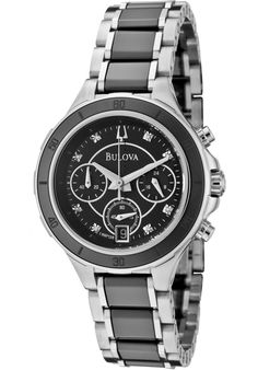 Price:$189.00 #watches Bulova 98P126, This trendy Bulova timepiece cannot escape anyone's eye. Its dazzling display will have anyone give a second glance.