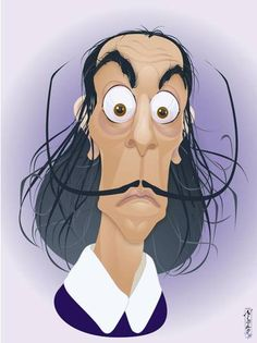 Looking for some references to model a 3D toon design of Salvador Dalí