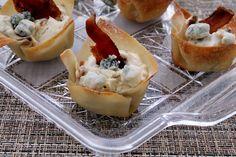 Bacon Blue Cheese Wonton Cups -  Foody_Schmoody