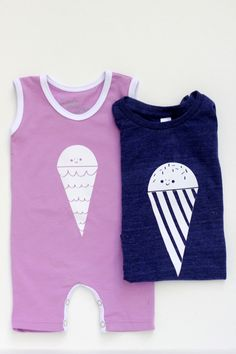 DIY Ice Cream Cone Tees via Julep