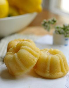 Mini Lemon Bundts. I love my new pan. So many good things will come of it. :)