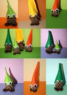 KInda cute...gnomes made of pine cones. autum by NeusaLopez, via Flickr
