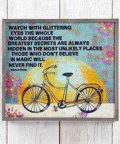 Love this 'Watch with Glittering Eyes' Wall Sign on #zulily! #zulilyfinds
