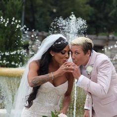 Wedding toast. Sydney Leroux and Abby Wambach. (Instagram)