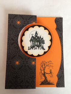 Stamping in the Rain: Halloween Circle Thinlit Card