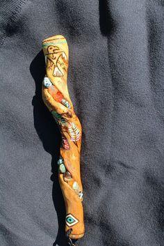 Native American Talking Stick by FairyFresh on Etsy, $45.00