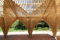 Création d'un abri en forêt à Bertrichamp (54) France Livré en 2014 Commune de Bertrichamp et Conseil Général 54 Christophe Aubertin Architecte
