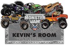 monster jam room decor