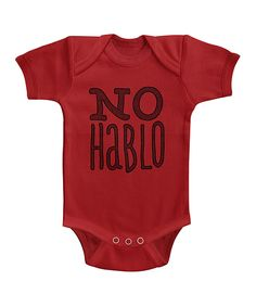 Look at this Red 'No Hablo' Bodysuit on #zulily today!