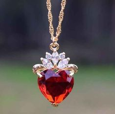 #Gold #Ruby #Diamond #Necklace #Pendant #jewellery