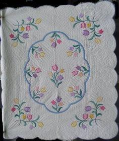 Marie Miller Antique Quilts ~ Tulip Appliques