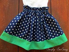 Blue polka dot little girls skirt. Www.lillyjdesign.weebly.com Cutest handmade clothes!