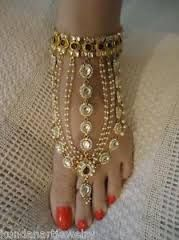 kundan payal - traditional indian bridal payal (anklet)
