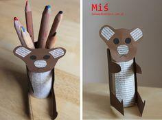 Miś z rolki od papieru :)