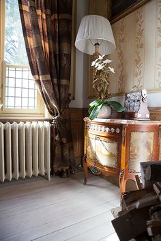 Classical interiors will never get out of fashion. Choose a hand painted chest and add curtains and vintage radiators for maximum effect!