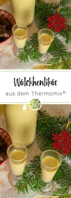 Christmas liqueur Heavenly cloud of snow from the Thermomix .- Weihnachtslikör Himmlisches Schneewölkchen aus dem Thermomix® Sipping this liqueur makes us feel like we are in heaven – Suitable for Thermomix and - Cocktail Menu, Cocktail Glass, Cocktail Recipes, Snow Clouds, Perfect Body Shape, Whiskey Drinks, Liqueur, Schnapps, Vegetable Drinks