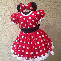 ideas for birthday outfit kids girls minnie mouse Disfraz Minnie Mouse, Minnie Mouse Costume, Birthday Cake Girls, Birthday Dresses, Birthday Nails, Pink Minnie Mouse Dress, Red Polka Dot Dress, Polka Dots, Fiesta Mickey Mouse