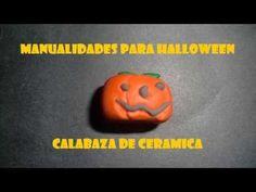 Manualidades para Halloween,Calabaza de Ceramica - YouTube