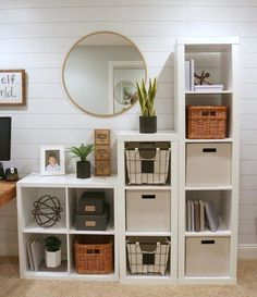 Study Room Organization. Via The Design Twins #organization #storage #studyroom #office #decor #HomeDecor