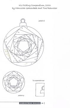 Iris folded circle pattern