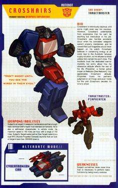 Transformer of the Day: Crosshairs