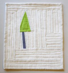 Little Tree February 2013, mini quilt by Kristin Shields #quilting