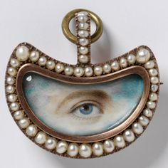 Lover's Eye brooch, England, 1800's Pearls Exhibition at London's V&A Museum | Jewels du Jour