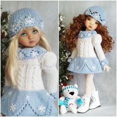 "DRESS,HAT&BOOTS SET MADE FOR EFFNER LITTLE DARLING 13"",MY MEADOW DOLLS #Unbranded"