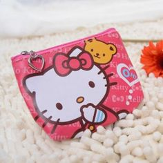 Cartoon Wallet Pink Hello Kitty PU Leather Coin Purse Card Bag 4 5'' Brand New | eBay