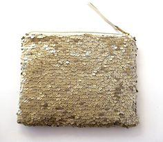 Sequin gold clutch, metallic purse, Bridesmaids Clutch, Wedding purse, Formal clutch, Party purse, BagNoir clutch on Etsy, $49.00