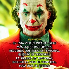 Joker Frases, Amor Quotes, Movie Posters, Movies, Fictional Characters, Great Quotes, Sayings And Quotes, Mean Quotes, Happy Day
