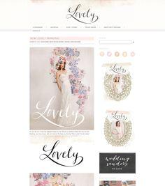 #web #blog #design - scrap-bookish in pale colours