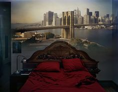 turn my kitchen into a Camera Obscura and take a photo of the view. Camera Obscura photography by Abelardo Morell